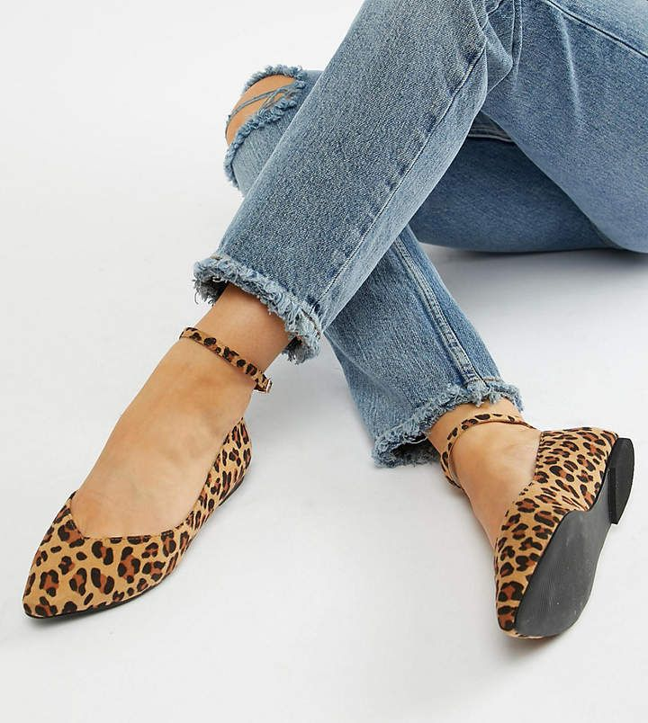Faith Wide Fit Ally Leopard Print