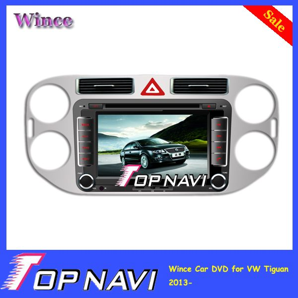 2015 Top Professional Newly  Wince car dvd player for VW Tiguan 2013-  With Bluetooth GPS Free Map