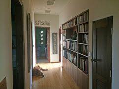 hallway & library