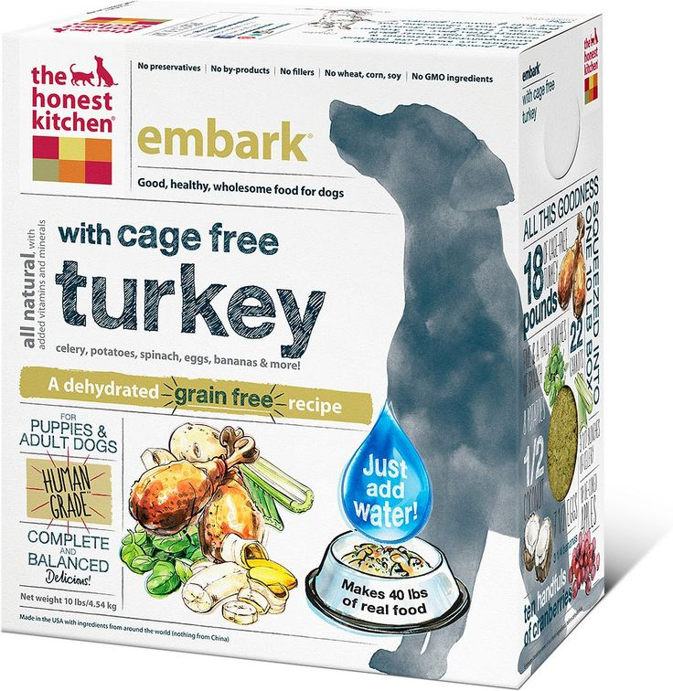 Best food for a weimaraner! The Honest Kitchen Embark Dehydrated Dog Food, 10-lb box $92