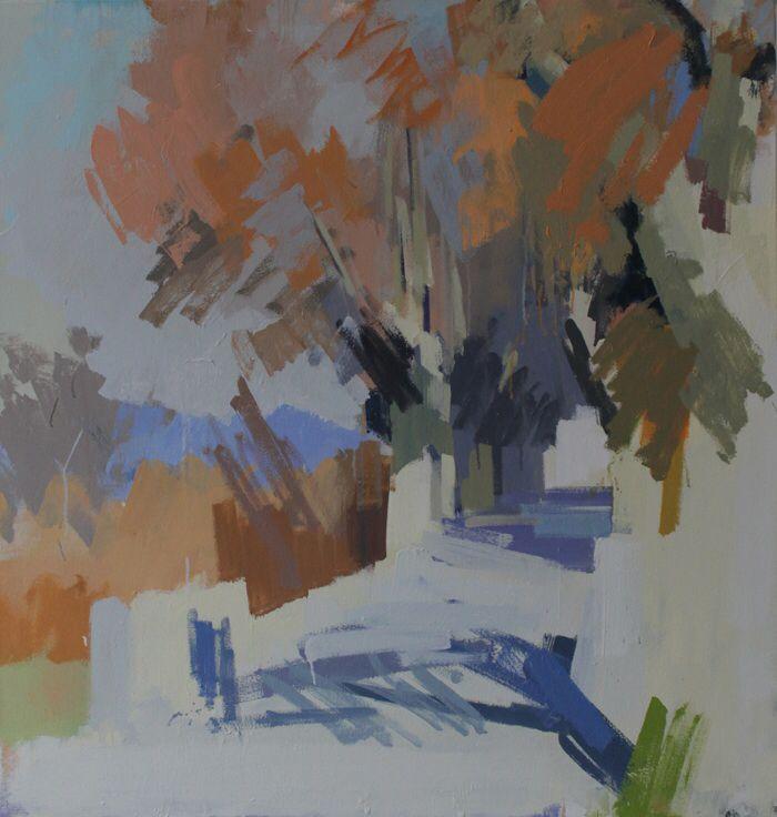 Plane trees, Pompignan. No.2. 34 x 32 ins. Philip Richardson