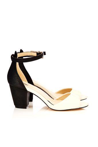 Black And Cream Ankle Cuff Sandal #WallisFashion