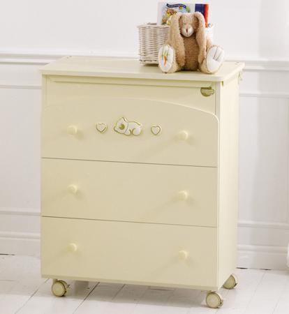 Baby Expert Пеленальный комод Dormiglione крем/золото  — 32790р.  Пеленальный комод Dormiglione крем/золото