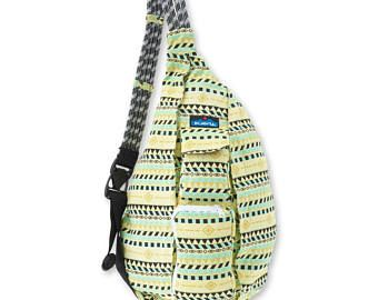 Monogrammed Kavu Rope Bag - Gold Belt | Monogram Crossbody Bag | Teens | Women | Outdoors Satchel | Gift for Her | Canvas Sling Bag