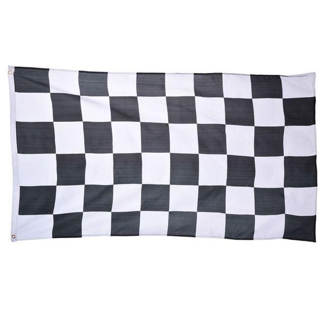 Гоночный автомобиль флаг черно-Белый Плед Баннер 90*150 см 3 * футов Гонки Клетчатый Флаг Автоспорт Гонки баннер Украшение Дома