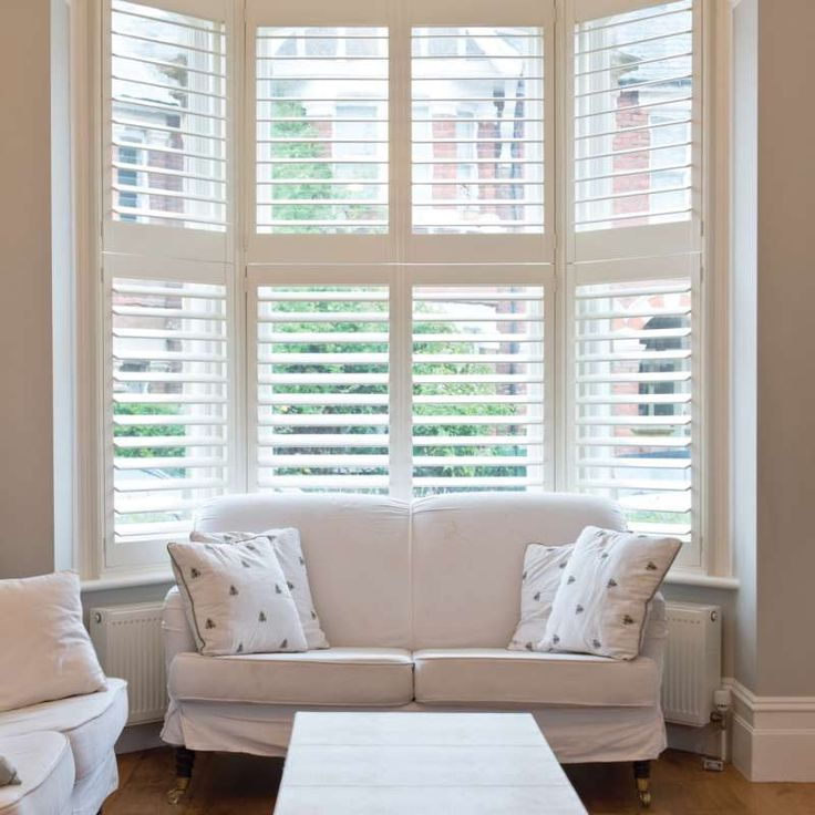 25 best ideas about plantation blinds on pinterest for Coverings for bay windows