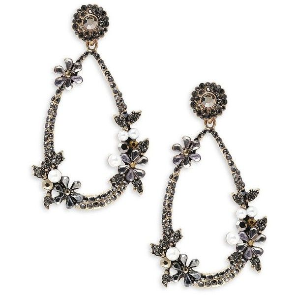 Cara Pear-Shaped Drop Earrings ($30) ❤ liked on Polyvore featuring jewelry, earrings, drop earrings, pear shape earrings, sparkle jewelry, sparkly drop earrings and earring jewelry