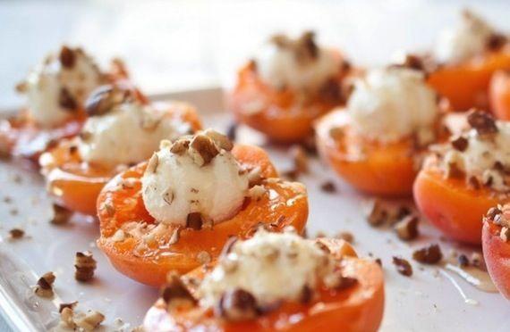 buffet dinatoire idee menu cocktail dinatoire abricot chevre miel