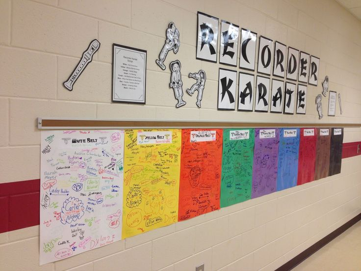 Love this idea for Recorder Karate - have students sign their name when they achieve a belt
