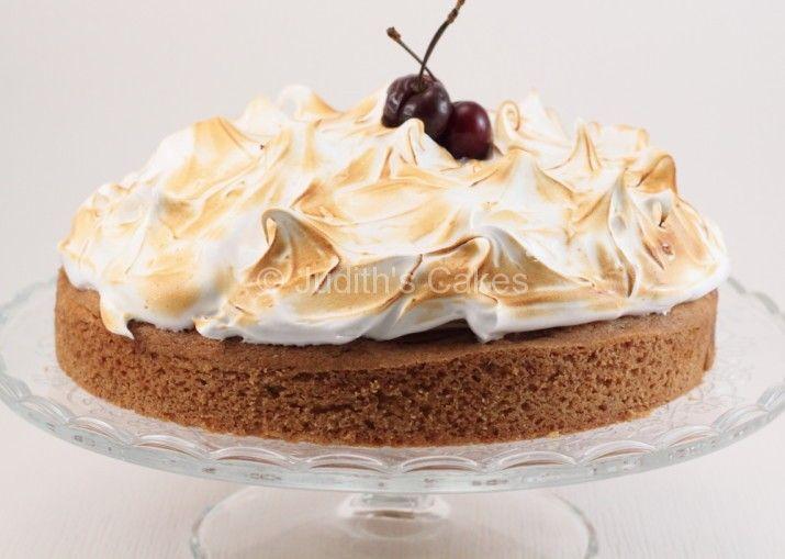 Kersen meringue taart