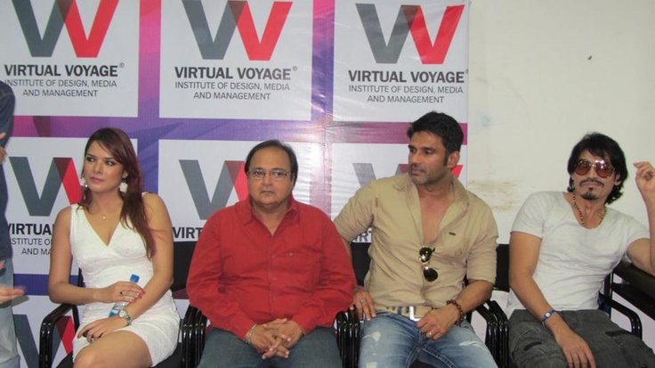 An Interactive session between celebrities and students with movie promotion.