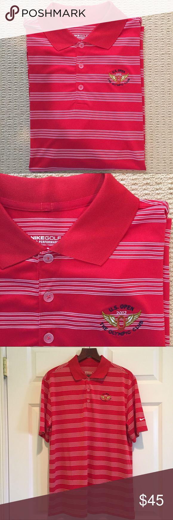Nike golf dry-fit polo shirt Perfect condition Nike Golf dry-fit red polo shirt. U.S. Open 2012 Olympic Club logo Nike Shirts Polos