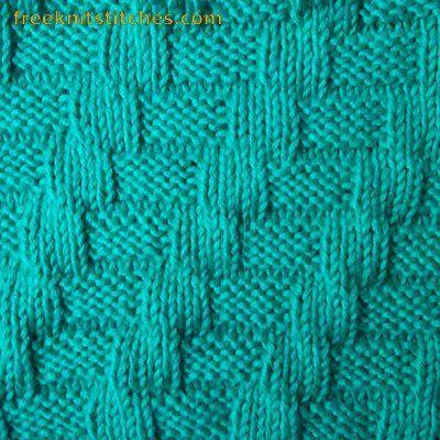 Interlacement knitting stitch