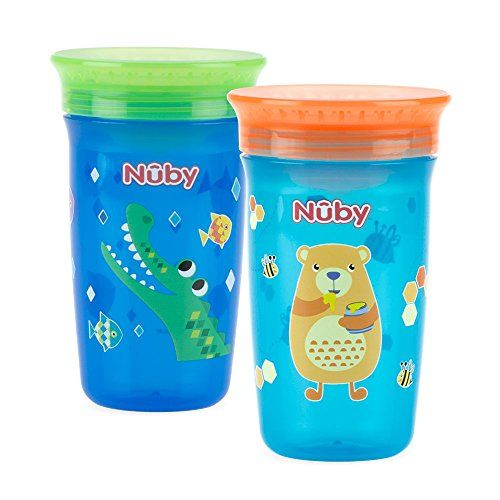 Nuby Sipeez 360 Degree Wonder Maxi Cups Assorted Designs Pack of 2