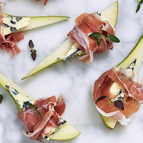 Päronsnitt med ädelost och skinka | Recept ICA.se