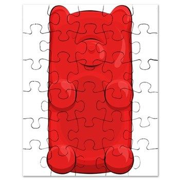 Candy Bear Puzzle from cafepress store: AG Painted Brush T-Shirts. #puzzle #bear #candy