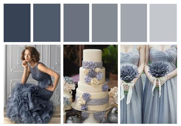 Dusky Blue Wedding Inspiration Board - Designcat Weddings