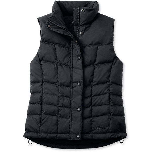 L.L.Bean Trail Model Down Vest ($99) ❤ liked on Polyvore featuring outerwear, vests, vestes, insulated vest, down vest, mini vest, down filled vest and vest waistcoat