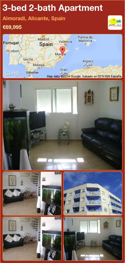 3-bed 2-bath Apartment for Sale in Almoradi, Alicante, Spain ►€69,995