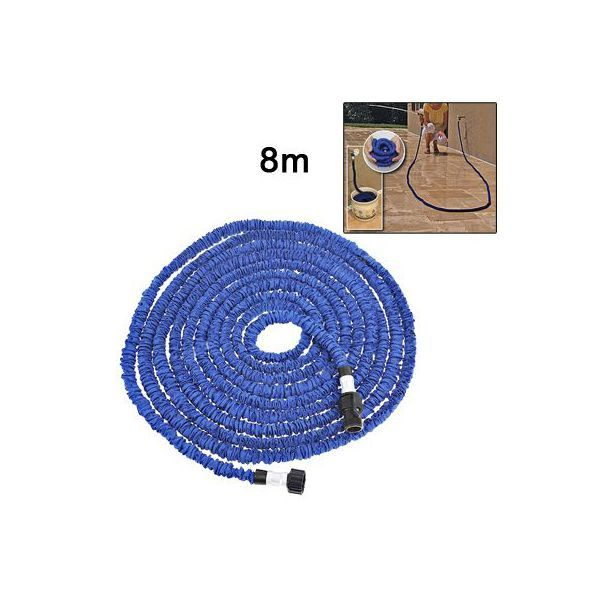 Tuyau d'arrosage 8 m extensible 23 mètres rétractable anti-nœud bleu. http://www.yonis-shop.com/tuyau-arrosage/2347-tuyau-d-arrosage-8-m-extensible-23-metres-retractable-anti-noeud-bleu.html