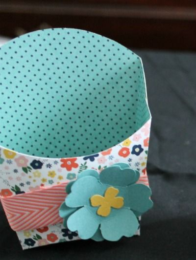 stampin up flower pot dsp fry box