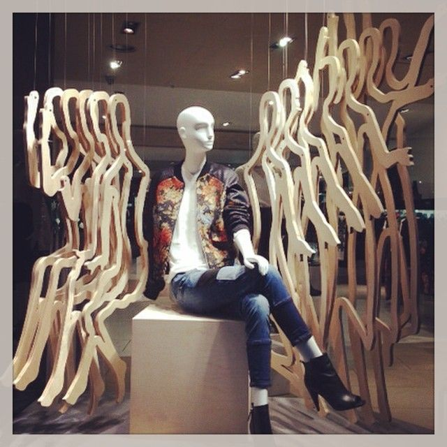 Our stunning #RIBA windows at our #London Regent Street store as part of the Regent Street Windows Project and competition. Installation by EKM Works #KMTHEJOURNEY - @karenmillen