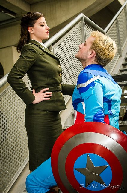 22. In that last year Nathan and i got a wonderful chance to go to Comic-Con. It was SO COOL!! We dresses up as Peggy Carter and Steve Rogers(Captain America) from Captain America because i am a total nerd for Marvel Comics and so is Nate. Captain America is my absolute favorite!