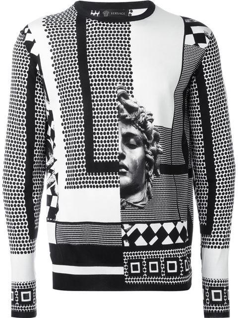 Versace graphic print sweater