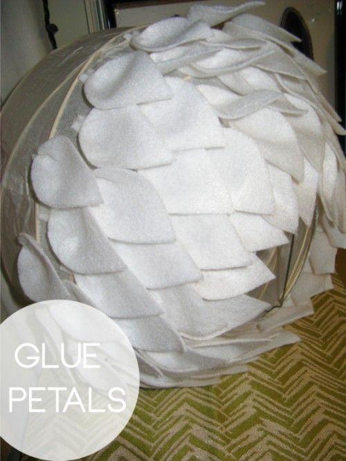 Beautiful DIY Felt Lamp | Shelterness
