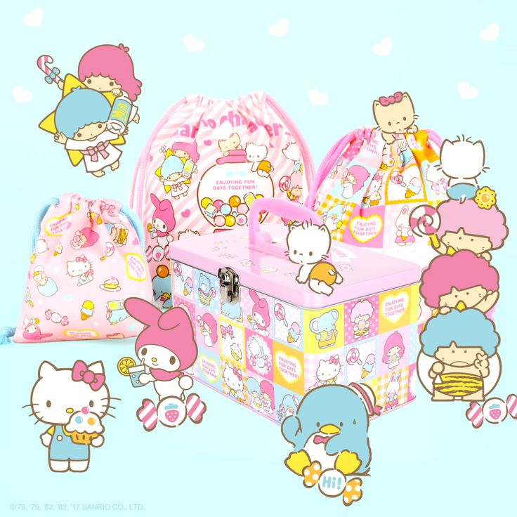 New items featuring Sanrio characters. Fun, playful and always supercute!