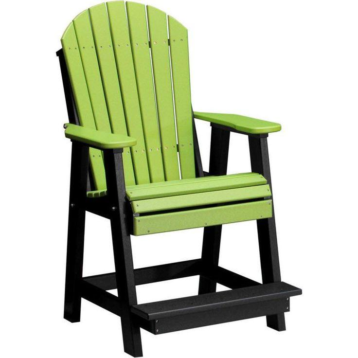 Best Luxcraft Recycled Plastic Adirondack Balcony Chair 400 x 300