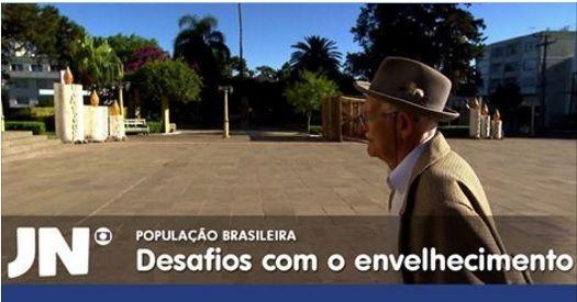 O Brasil está envelhecendo  série do Jornal Nacional