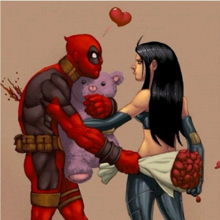 Love hurts! Happy Valentine's Day X-23/DEADPOOL style.