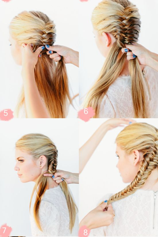 fishtail-braid-wedding-hairstyles-for-long-hair-tutorial-3.png (550×826)