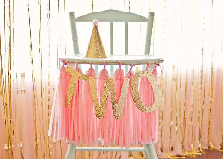 pink and gold Birthday Party Ideas | Photo 1 of 38 | Catch My Party