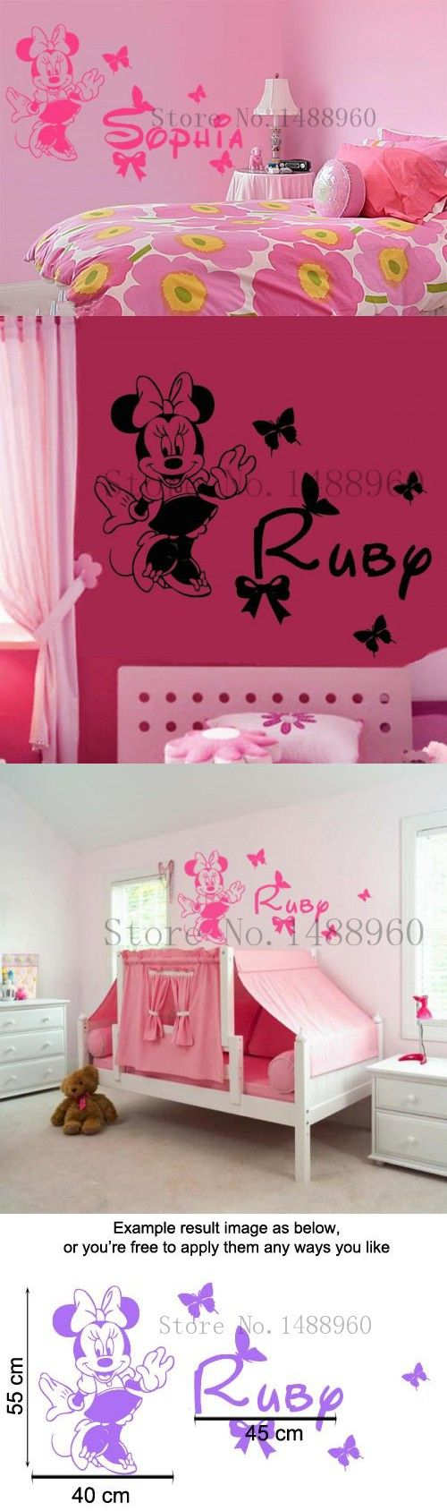 Best 25 name wall stickers ideas on pinterest name wall decals personalise custom name wall stickers home decor diy poster decal mural decoration removable design inspired minnie girls amipublicfo Gallery