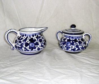 Detailed Photo of Creamer & Sugar Bowl Arabesco Creamer & Sugar Bowl