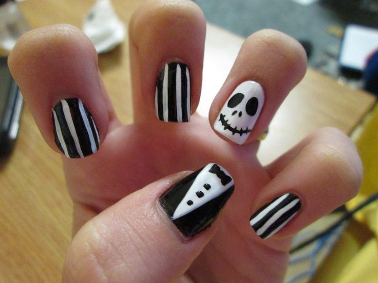 nightmare before christmas nail art my own nail stuff