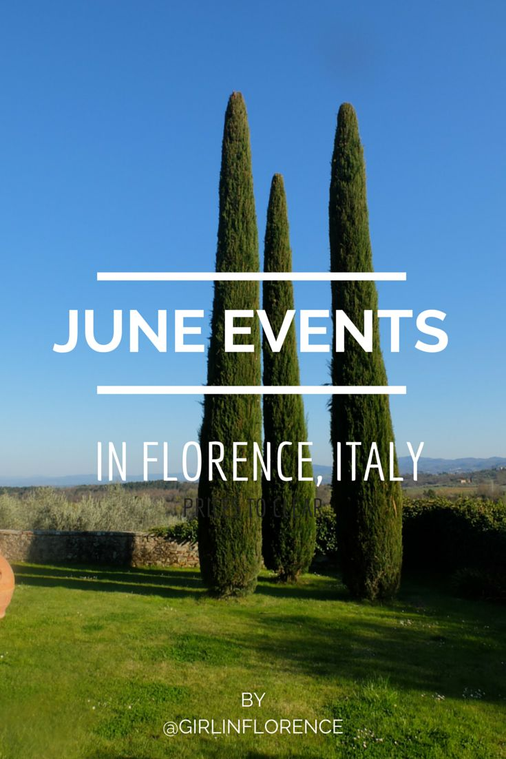 June Events -- Best spots for apertivos in Florence