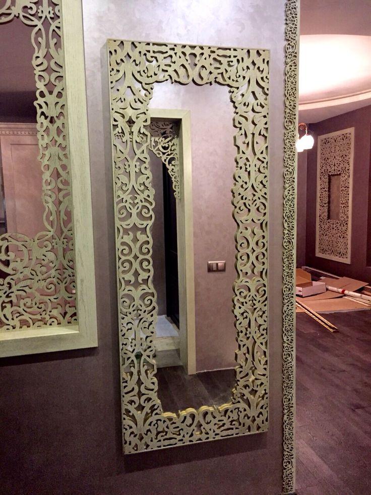 Mirror laser cut frame Más