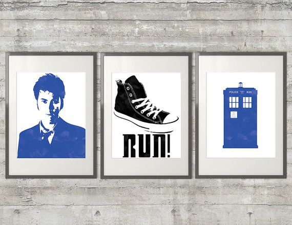 Doctor Who Art  10th Doctor David Tennant by PrintsAndPrintables, $38.00