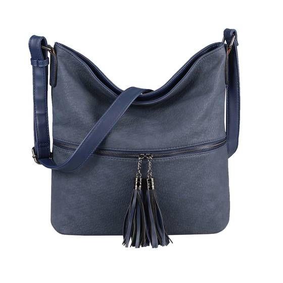 Photo of WOMEN'S BAG SHOPPER Shoulder Bag Shoulder Bag City CrossOver CROSSBODY Tote Bag Bag Pouch Art Leather Dark Blue