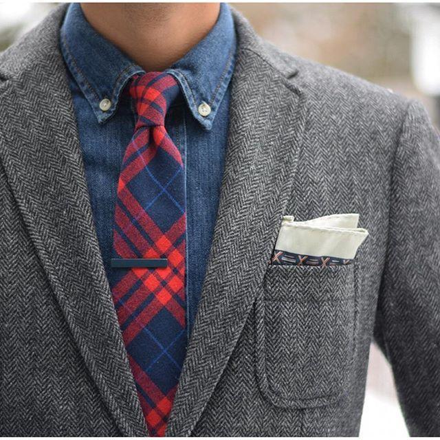 Men's Style - Denim Shirt - Suit - Men's Wear
