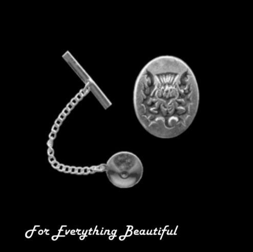 For Everything Genealogy - Thistle Design Engraved Oval Antiqued Mens Sterling Silver Small Tie Tack, $40.00 (http://foreverythinggenealogy.mybigcommerce.com/thistle-design-engraved-oval-antiqued-mens-sterling-silver-small-tie-tack/)