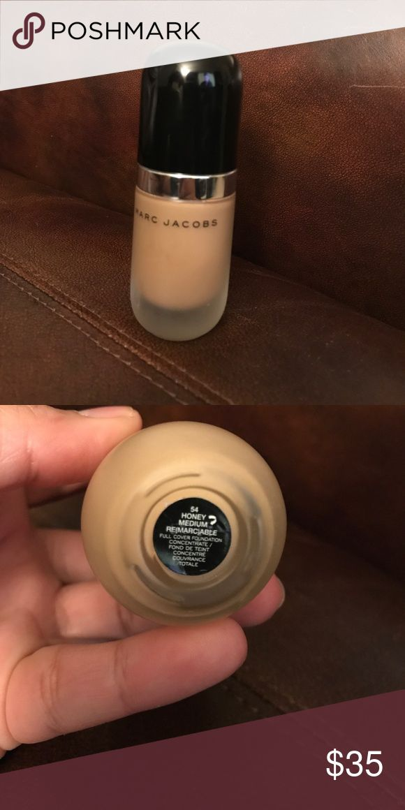 Marc Jacobs Remarcable Foundation Bought this from a friend a while ago and it's way too light for me now! Only used a couple of times. In shade Honey Medium 54. Full coverage matte. Full bottle. Marc Jacobs Makeup Foundation