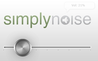 SimplyNoise - Free White, Brown and Pink Noise Generator