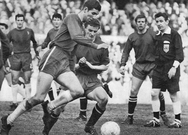 5th March 1966. Chelsea centre forward Peter Osgood in action against Shrewsbury Town in the FA Cup 5th Round.