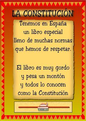 RECURSOS DE EDUCACION INFANTIL: CONSTITUCIÓN