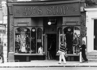 Bus Stop store front, Kensington Church Street