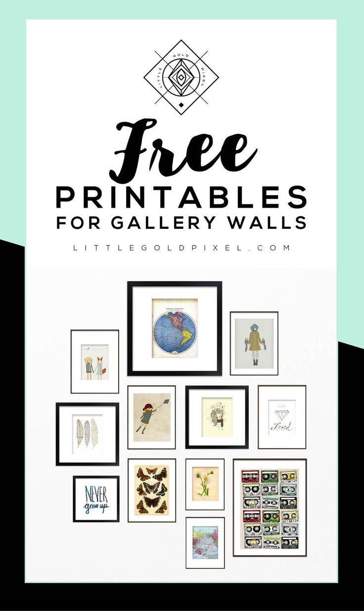 Roundup Free Printables For Gallery Walls Little Gold Pixel Free Gallery Wall Printables Free Printable Wall Art Gallery Wall Printables